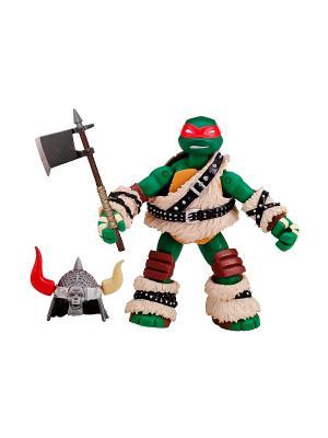 Фигурка Черепашки-ниндзя Варвар Раф, 12 см Playmates toys. Цвет: зеленый, бежевый
