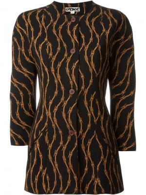 Пиджак с принтом колючей проволоки Stephen Sprouse Vintage. Цвет: чёрный