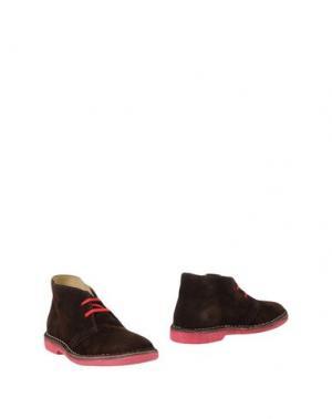Полусапоги и высокие ботинки WALLY WALKER. Цвет: темно-коричневый