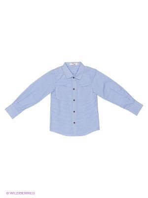 Рубашка Born. Цвет: синий, голубой