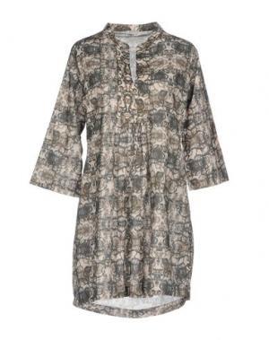 Короткое платье PYAAR. Цвет: темно-зеленый