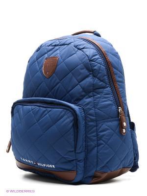 Рюкзак Tommy Hilfiger. Цвет: темно-синий, коричневый