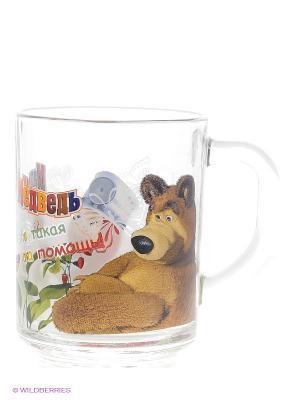 Кружка Маша и Медведь -  Доктор. Цвет: прозрачный, коричневый