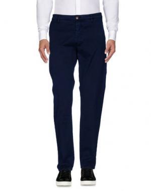 Повседневные брюки BARBA Napoli. Цвет: темно-синий