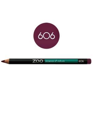 Zao карандаш для глаз, бровей, губ 606 (сливовый) (1,14 г). Цвет: сливовый