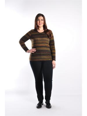 Блузка Forus. Цвет: темно-коричневый, терракотовый, хаки