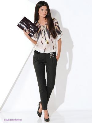 Блуза Ana Alcazar. Цвет: бежевый, коричневый