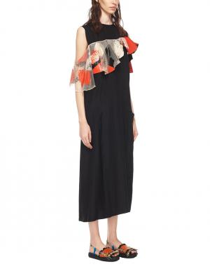 Платье Toga Archives. Цвет: черный, красный, серый