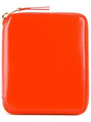 Кошелек с круговой застежкой-молнией Comme Des Garçons Wallet. Цвет: жёлтый и оранжевый