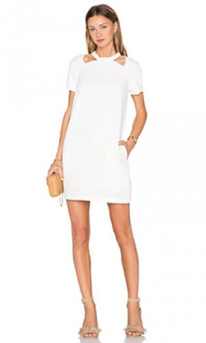 Мини платье the oslo TY-LR. Цвет: белый