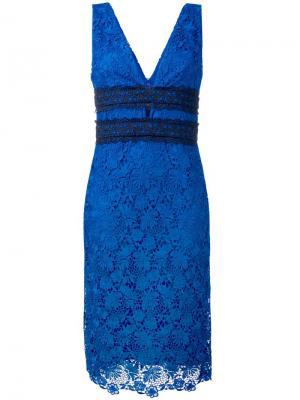 Кружевное платье миди Dvf Diane Von Furstenberg. Цвет: синий