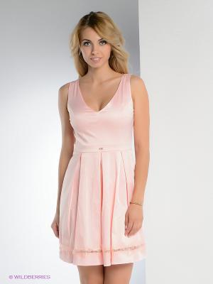 Платье TOPSANDTOPS. Цвет: бледно-розовый
