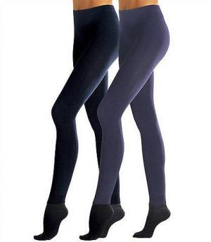 Трикотажные леггинсы, Lavana (2 шт.). Цвет: антрацит + чёрный