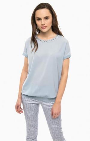 Синяя блуза с металлической отделкой River Woods. Цвет: синий