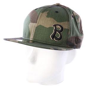 Бейсболка New Era  NewEra Camo Hanoi Baker. Цвет: зеленый,камувляжный