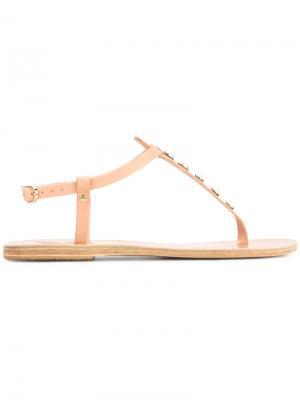 Сандалии Lito Pearls Ancient Greek Sandals. Цвет: телесный