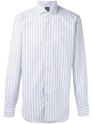 Рубашка в полоску Barba. Цвет: белый