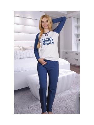 Пижама You&Me. Цвет: синий, белый