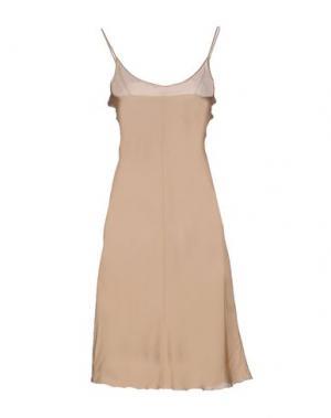 Короткое платье CRISTIANO BURANI. Цвет: песочный