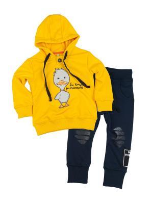 Комплект одежды VATAGA. Цвет: темно-синий, желтый