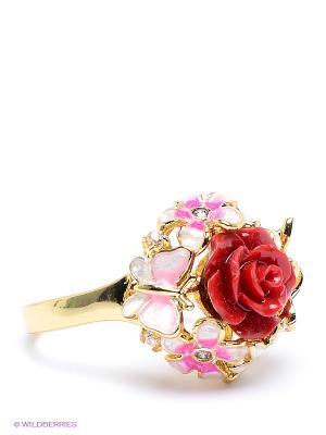 Кольцо Infiniti. Цвет: золотистый, красный