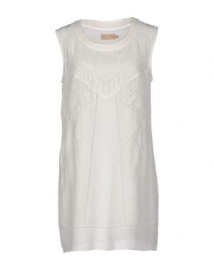 Короткое платье BDBA. Цвет: белый