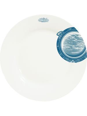 Тарелка Иллюминатор 1 Студия Холмы. Цвет: белый