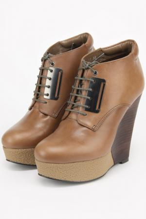 Ботинки Ita. Цвет: бежевый
