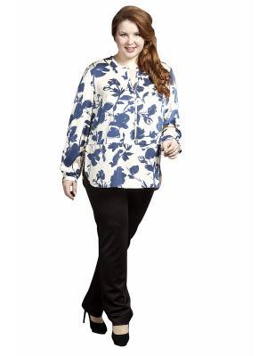 Блузка Queen Size. Цвет: молочный