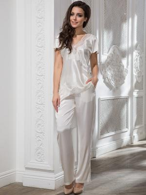 Пижама MIA-AMORE. Цвет: молочный