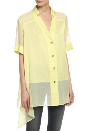 Блуза Oblique. Цвет: желтый