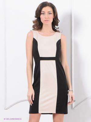 Платье Top Secret. Цвет: черный, молочный