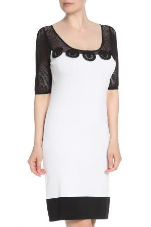 Платье с вставками из сетки Tuzzi. Цвет: мультиколор