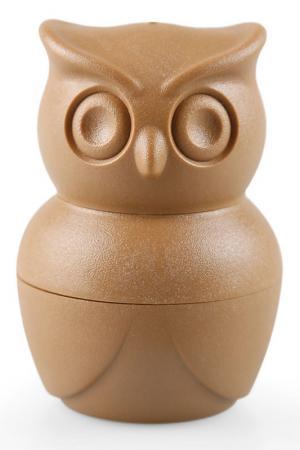 Набор для завтрака Morning Owl Qualy. Цвет: коричневый