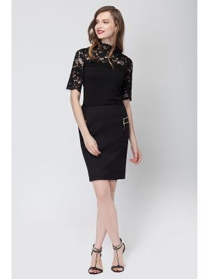 Блузка Vilatte. Цвет: черный