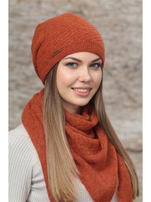 Шапка FOMAS. Цвет: терракотовый, оранжевый