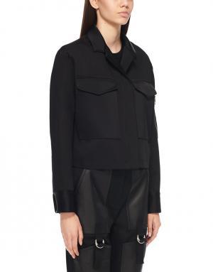 Куртка из хлопка и льна Rag & Bone. Цвет: черный