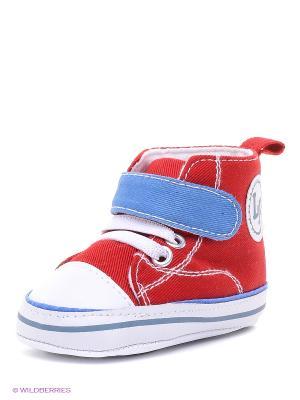 Пинетки Высокие кроссовки Luvable Friends. Цвет: красный