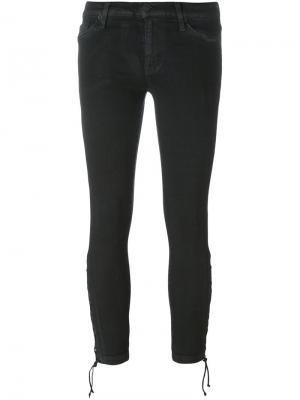 Укороченные брюки со шнуровкой внизу Hudson. Цвет: чёрный