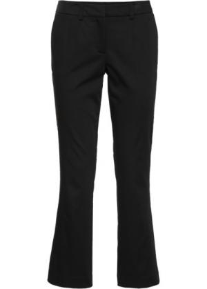 Расклешенные брюки длины 7/8 (черный) bonprix. Цвет: черный