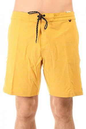 Шорты пляжные  All Day Lo Tides 18.5 Mustard Billabong. Цвет: желтый