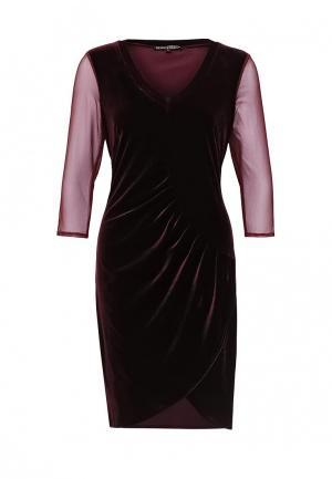 Платье Borodulins Borodulin's. Цвет: бордовый