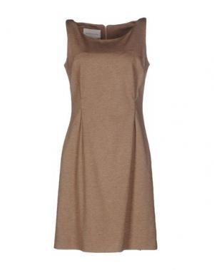 Короткое платье BLOCKINDUSTRIE. Цвет: верблюжий