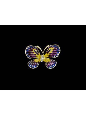 Брошь Miss Bijou. Цвет: золотистый, желтый, фиолетовый