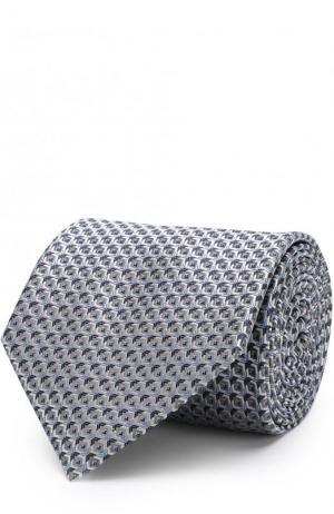 Шелковый галстук с узором Brioni. Цвет: серый
