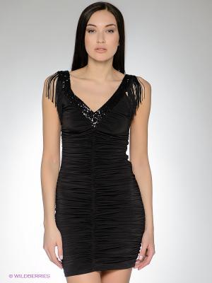 Платье FRENCH HINT. Цвет: черный