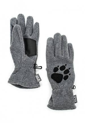 Перчатки Jack Wolfskin. Цвет: серый