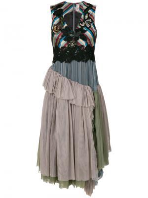 Платье с юбкой из тюля Antonio Marras. Цвет: многоцветный