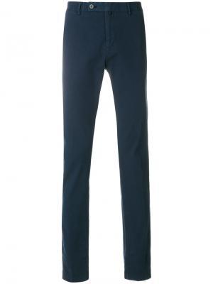 Прямые брюки Hackett. Цвет: синий
