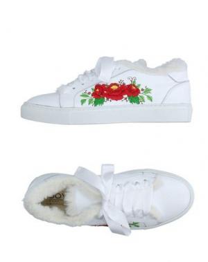 Низкие кеды и кроссовки JOYKS. Цвет: белый
